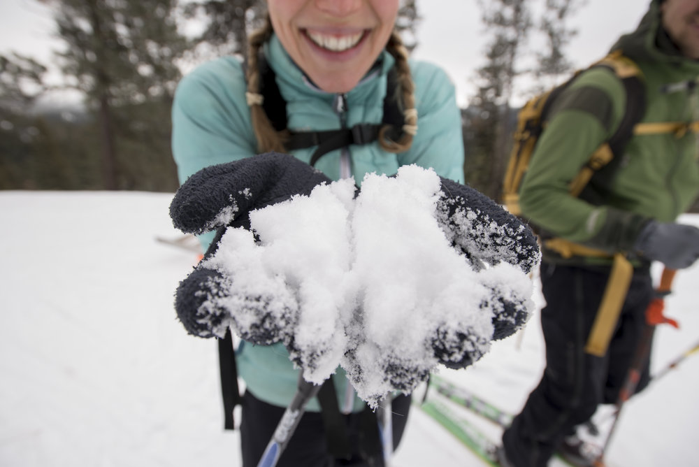 Ecologist Emily Howe leads The Nature Conservancy's snowpack research in Washington. Photo by Hannah Letinich.