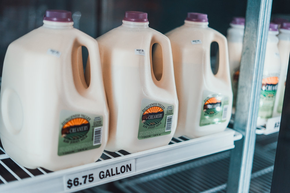 Raw milk from Dungeness Valley Creamer. Photo by Courtney Baxter / TNC