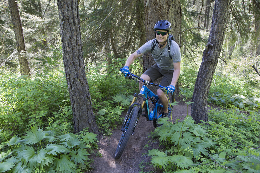 Community forestry supports diverse recreation opportunities for locals and visitors. Here, residents enjoy mountain biking on the trails between the Teanaway Community Forest and Roslyn Urban Forest. Photo by John Marshall.