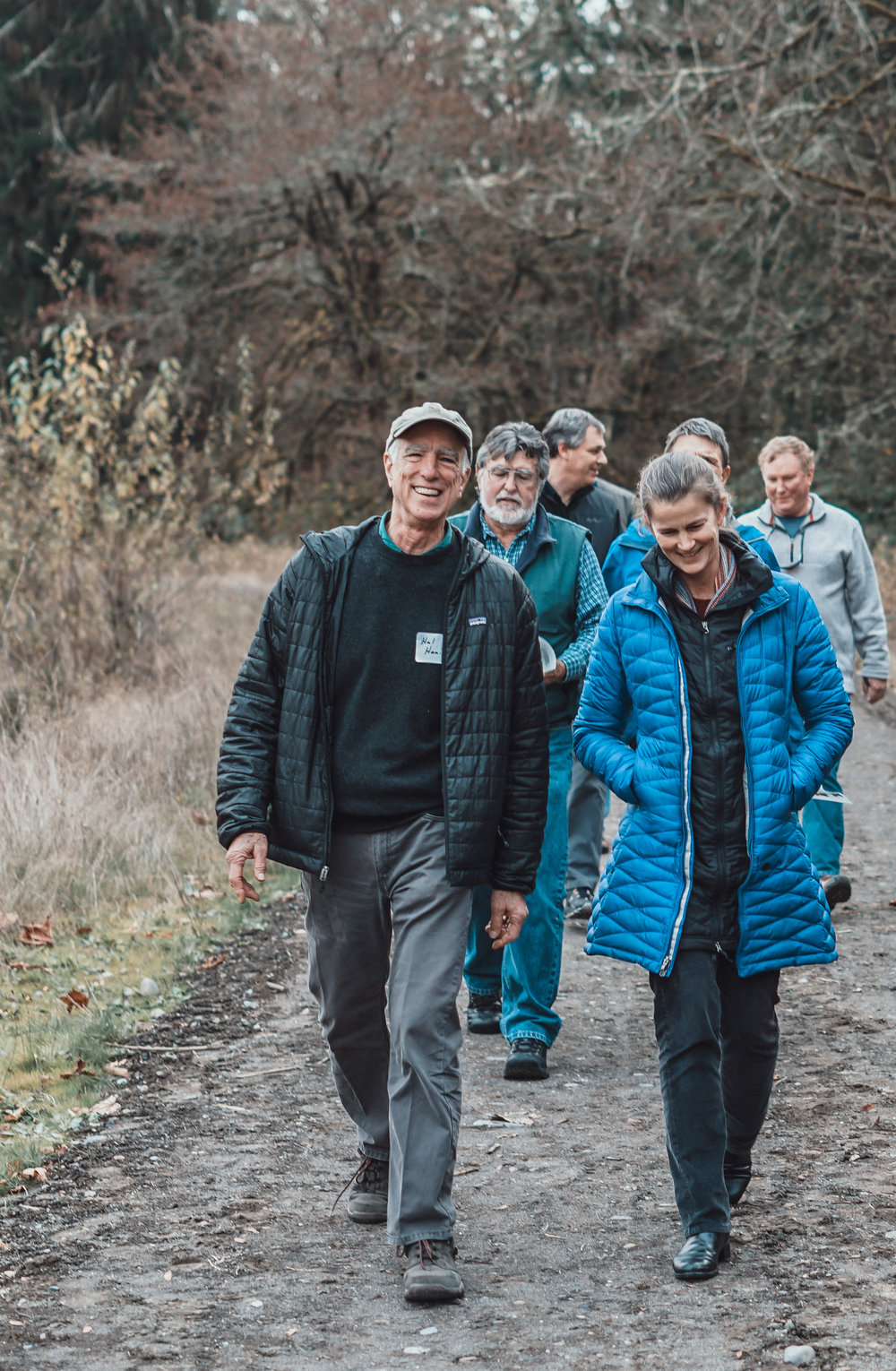 Floodplains by Design leaders from around the state tour the South Fork of the Puyallup River, part of the Orting FbD project. Photo by Courtney Baxter / The Nature Conservancy.