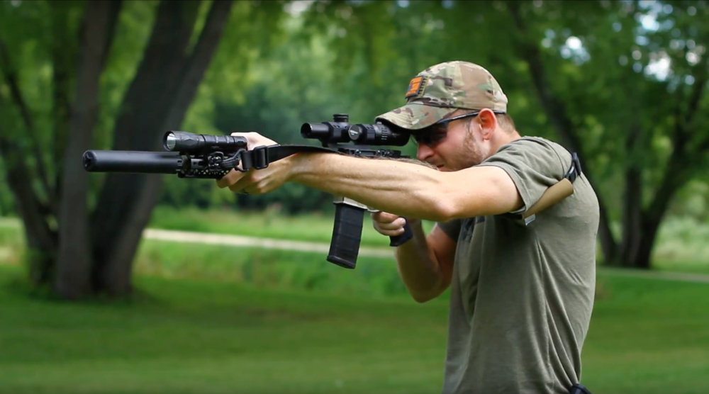 Jesse shooting the Vortex Optics Strike Eagle on his AR15 with a Griffin Armament Recce 7.