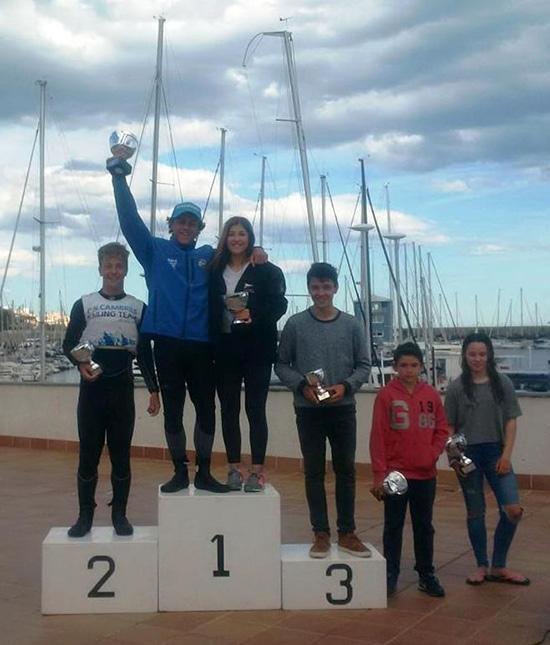 Els guanyadors del VII Gran Premi CN El Masnou, al podi - Foto: ©Federació Catalana de Vela.