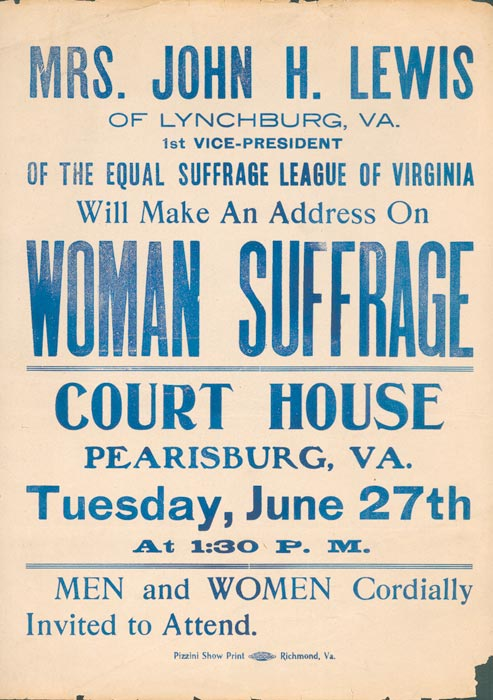 Suffrage Lecture Flyer