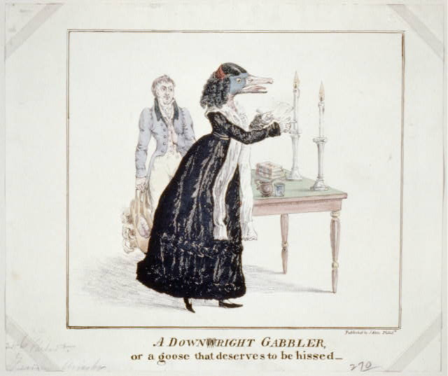 A Downwright Gabbler, Library of Congress.