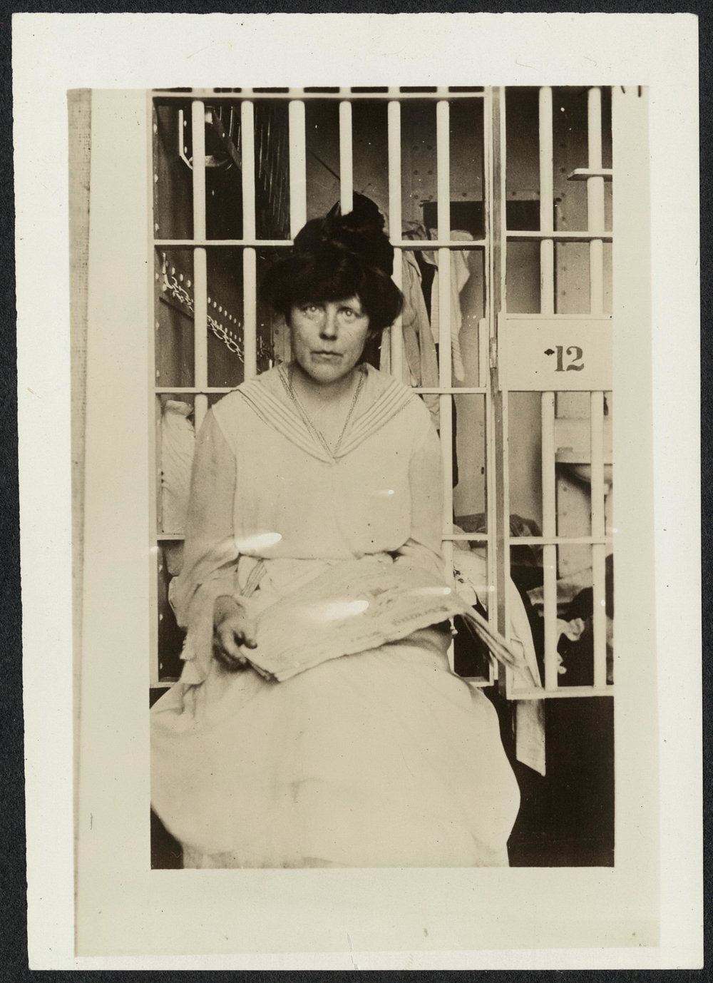 Miss [Lucy] Burns in Occoquan Workhouse, Washington