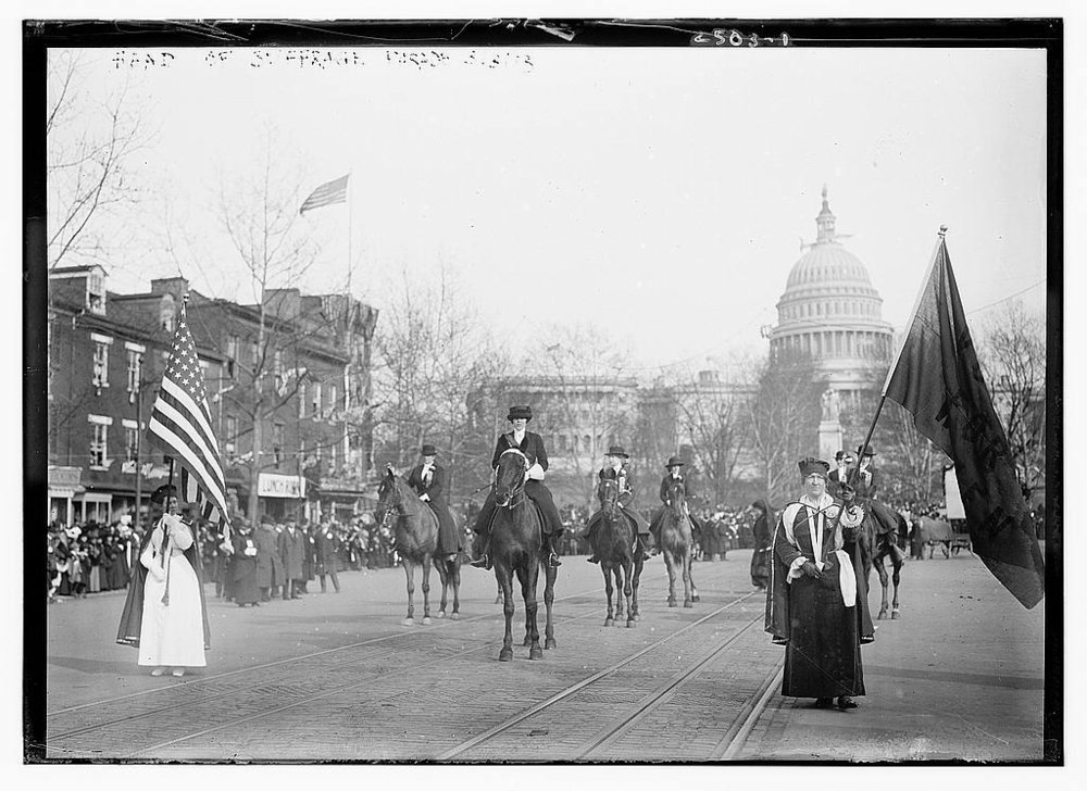 Head of suffrage parade