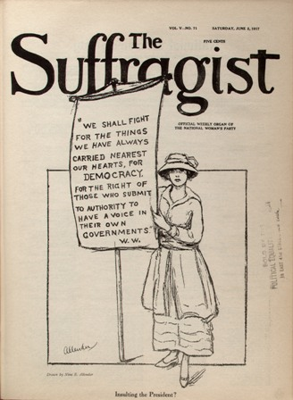"""Insulting the President?"" by Nina Allender, June 2, 1917"