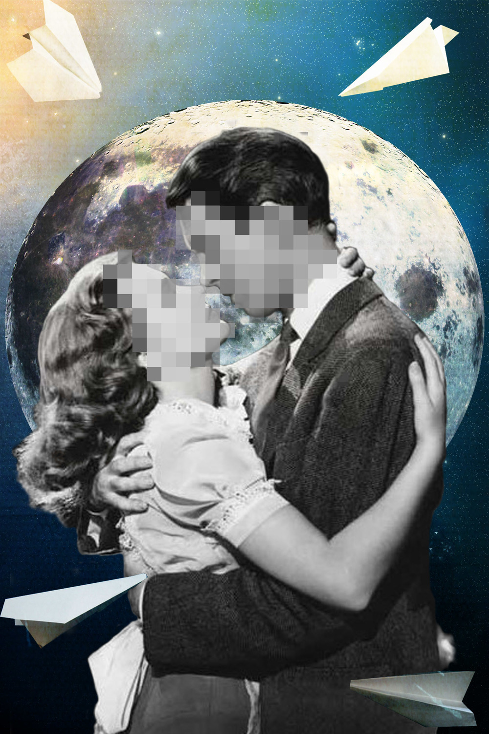 Jenkins, Cheyenne.  Lost Lovers.  2014. Digital Collage. Montreal, Quebec