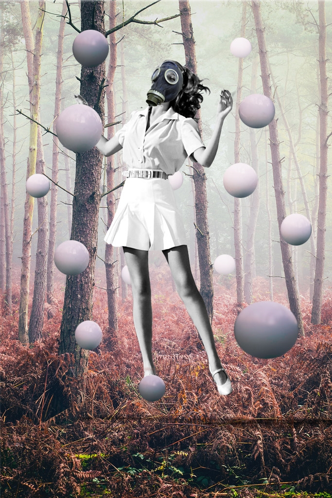 Jenkins, Cheyenne.  Orbs.  2014. Digital Collage. Montreal, Quebec