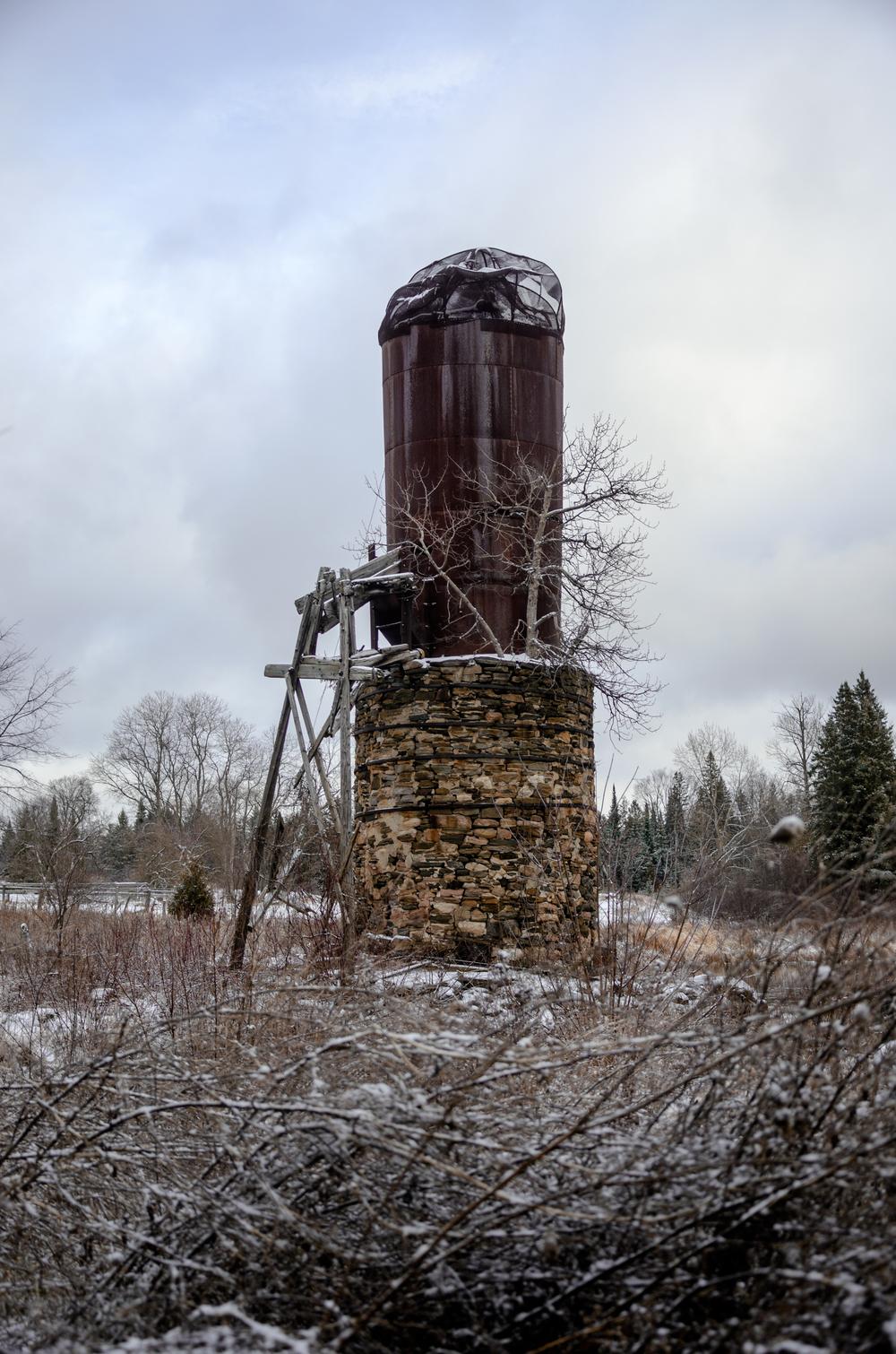 Jenkins, Cheyenne. Sawdust Burner. 2016. Digital Photography. Balaclava, Ontario