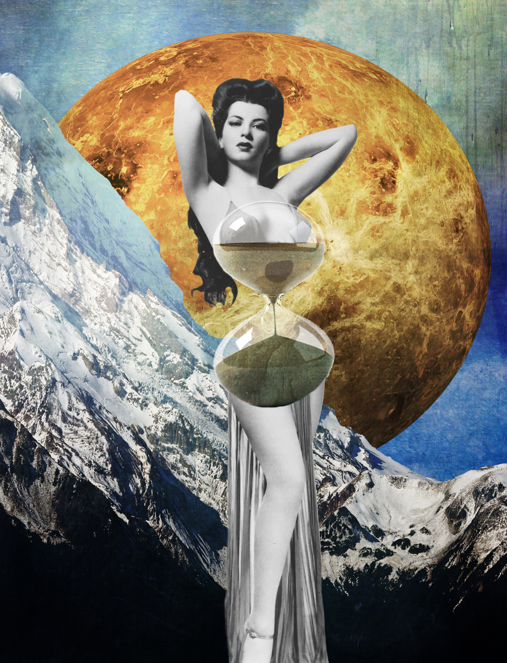 Jenkins, Cheyenne. Hourglass. 2015. Digital Collage. Montreal, Quebec