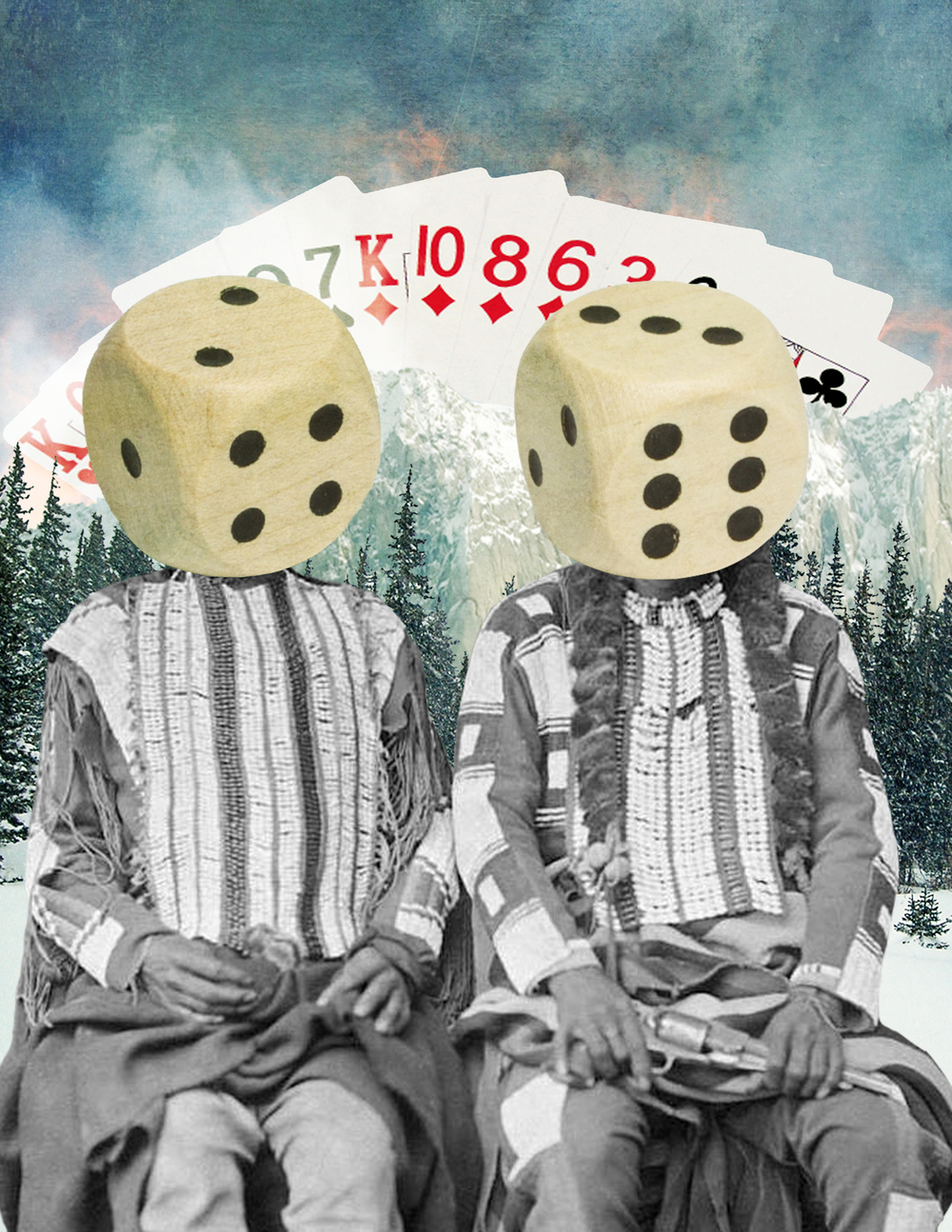 Jenkins, Cheyenne. Gambling Indians. 2016. Digital Collage. Montreal, Quebec