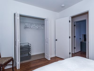 Main floor: Bedroom #1 with large closet