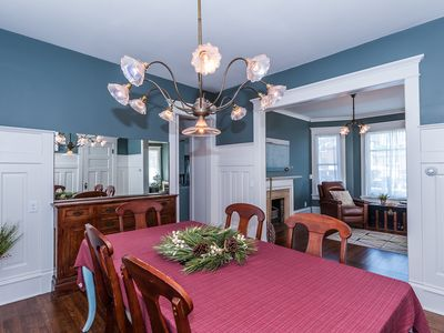 Main floor: Dining room with lots of charm and plenty of seating