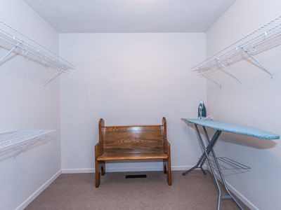 Main floor: Walk-in master bedroom closet