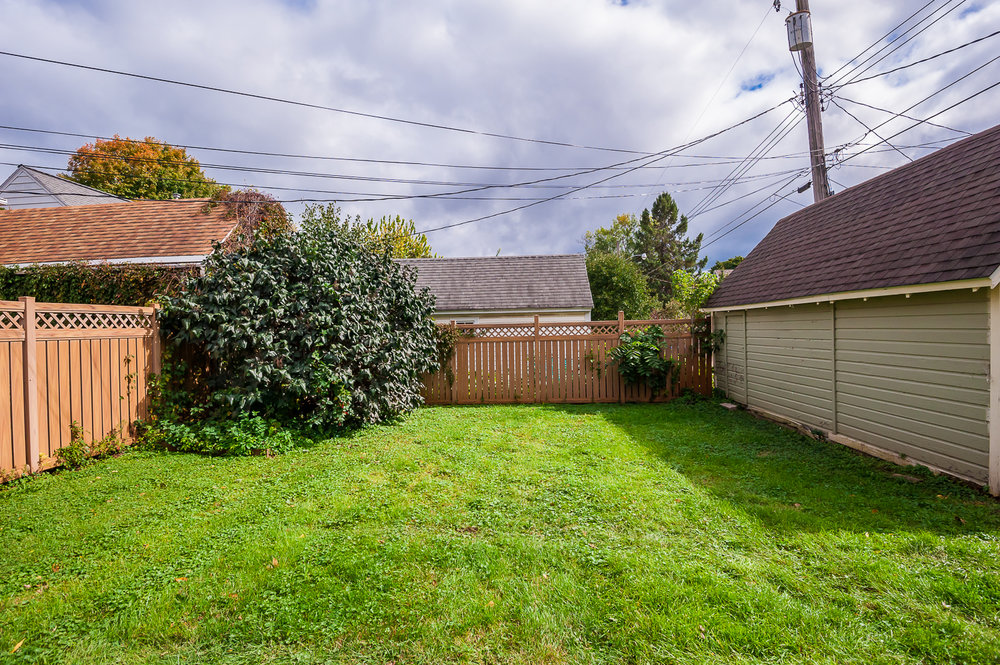 A wonderful grassy area in the back of the home
