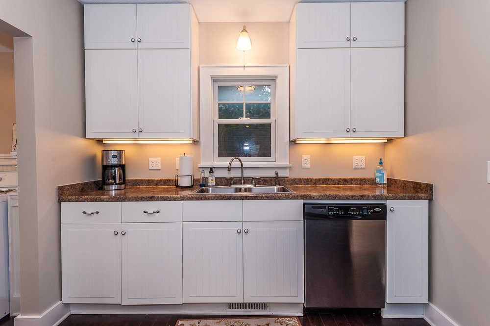 Main floor: All the necessities: Coffee maker, dishwasher, stove, refrigerator, oven and microwave