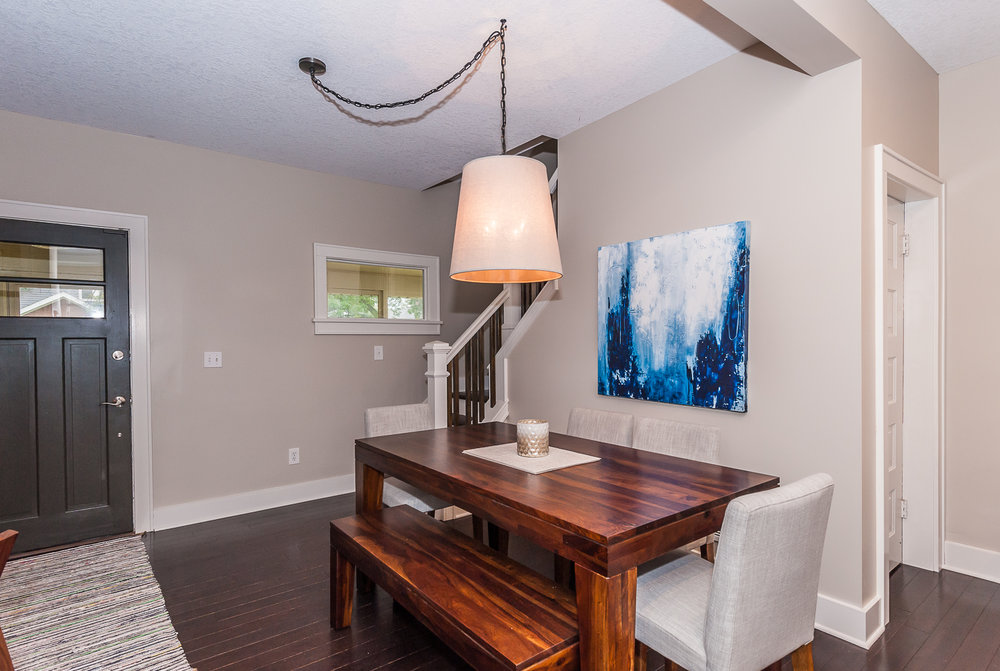 Main floor: Great dining room that opens up into the living room