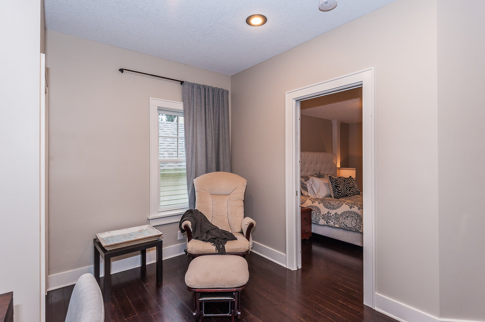 Main floor: Sitting area adjacent to dining room and bedroom #1