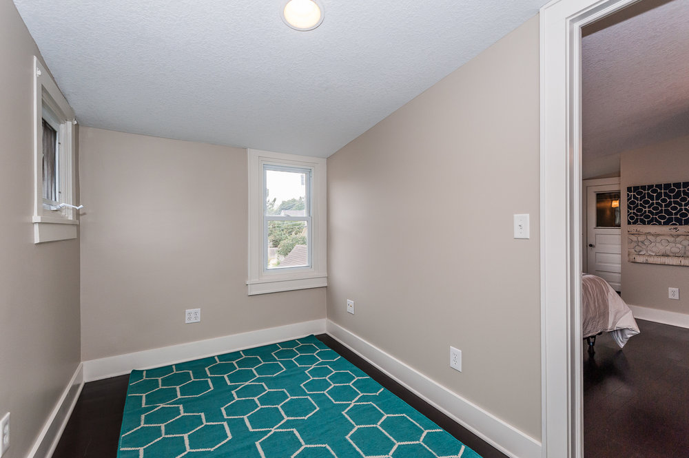 Second floor: Extra storage space or a great place for yoga