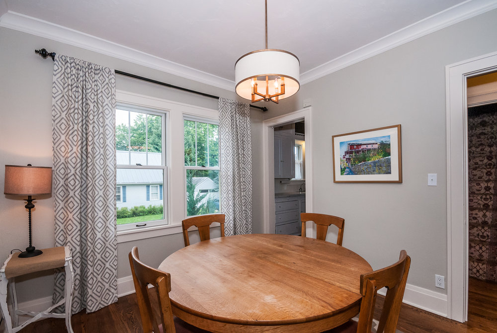 Main floor: Dining room with great natural light