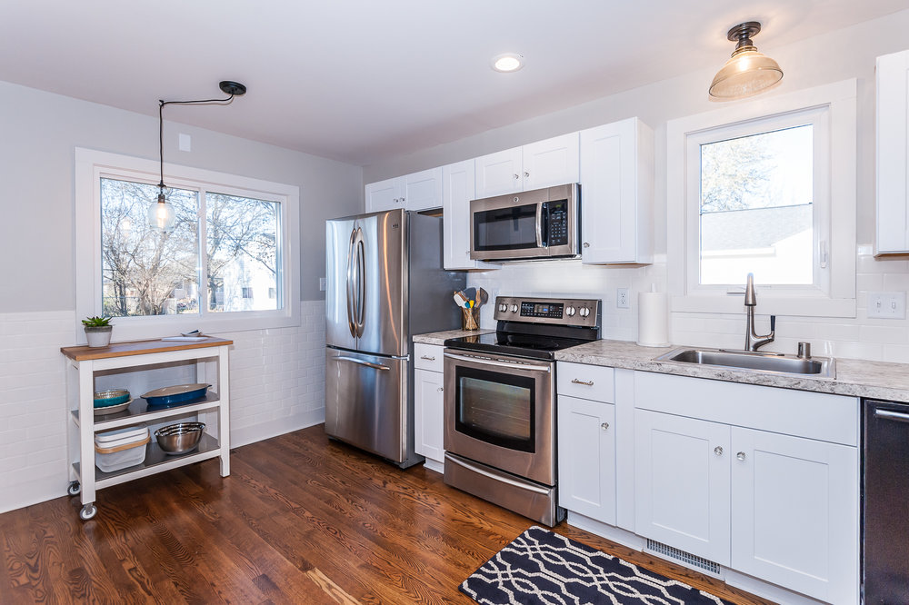 Fully renovated kitchen perfect for home cooked meals.