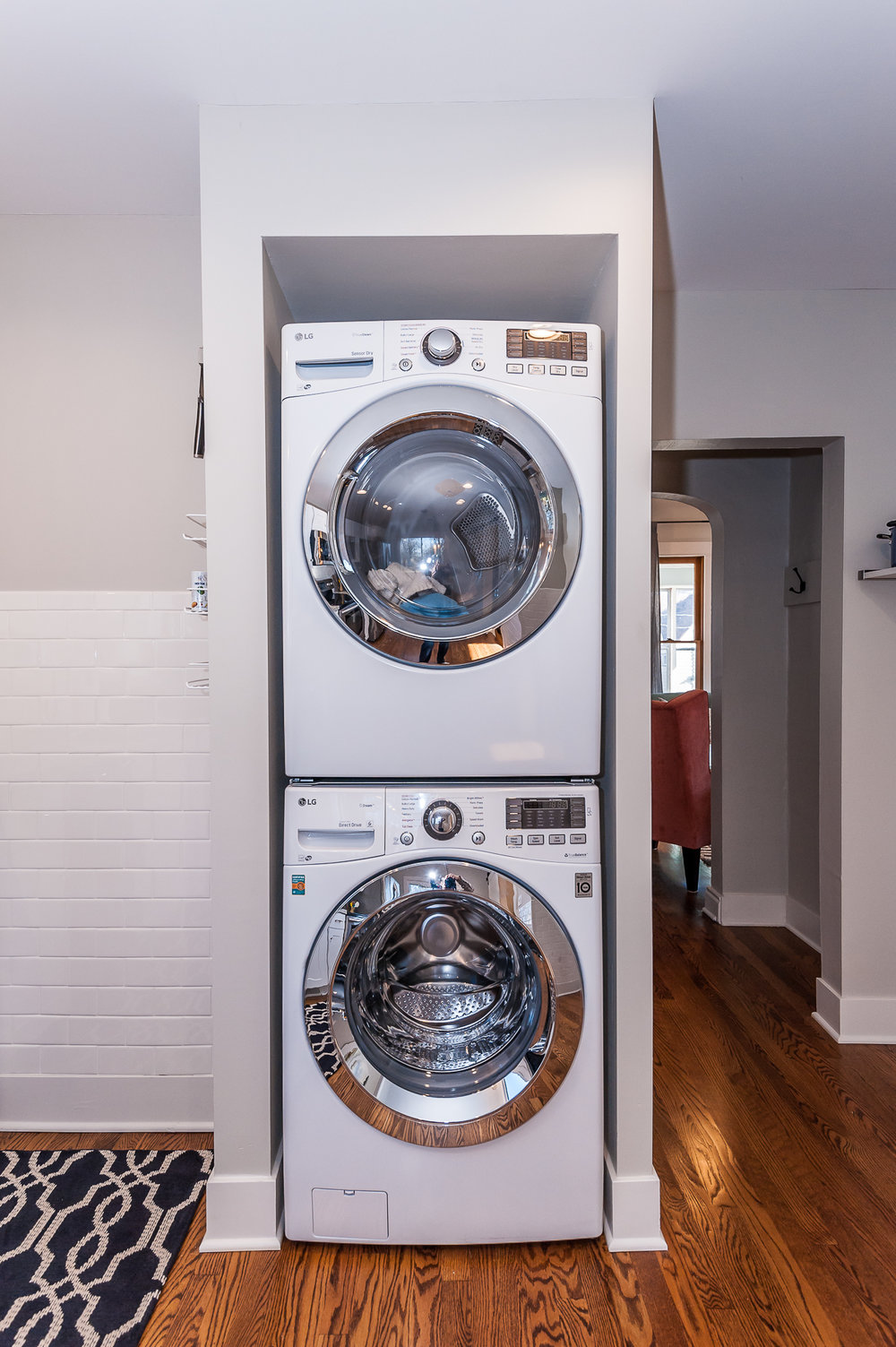 Full size washer and dryer on main floor.