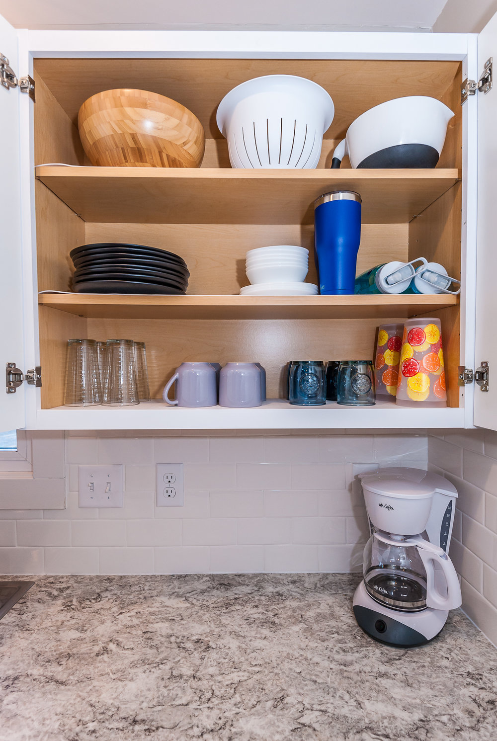Fully stocked with dinnerware, pots and pans, and so much more.