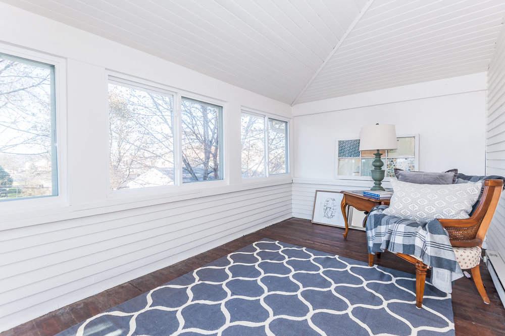 Second floor enclosed porch off of bedroom #2