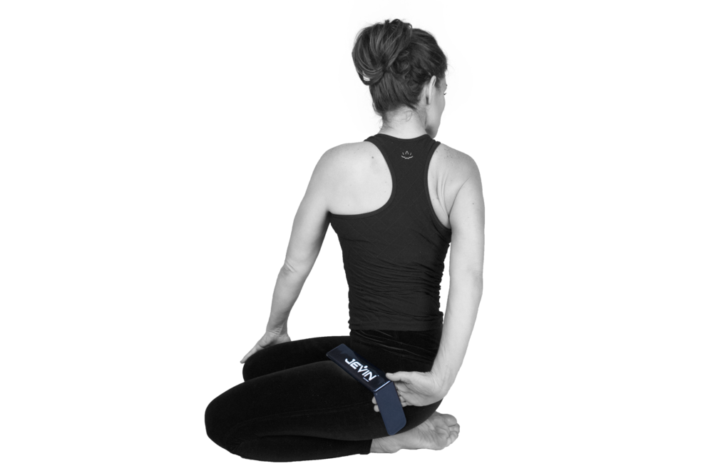 Thunderbolt Pose with a Twist-Parivrtta Vajrasana 2