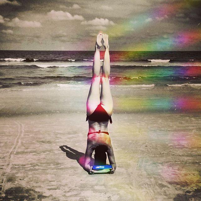 There will be a rainbow of hope at the end of every storm! #jevinyoga #yoga #neptunebeach #florida #jacksonville #beachyoga #pinchamayurasana #forearmstand #propyourpose #yogaover50 #yogaafter50 #yogainmyfifties #yogalifestyle #beforethemadness #yogapose #yogalife #yogalove #staysafe #yogagirl #inversion #rainbow