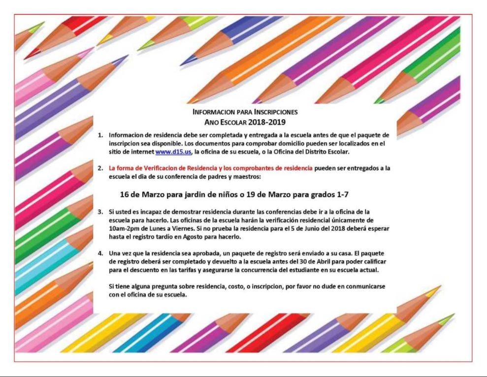 2018-2019 Registration Pencil Paper Spanish.JPG