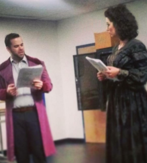 Christopher T. McGinnis and Kellie Cooper in rehearsal.