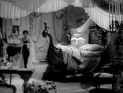 Set: Norma Desmond's Bedroom, Sunset Blvd. Hans Dreier