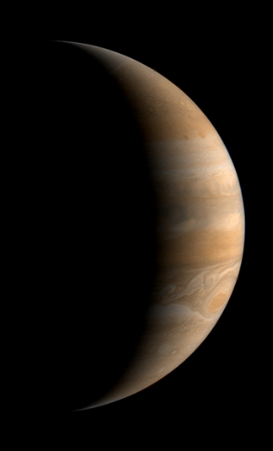 Jupiter, in profie. © NASA