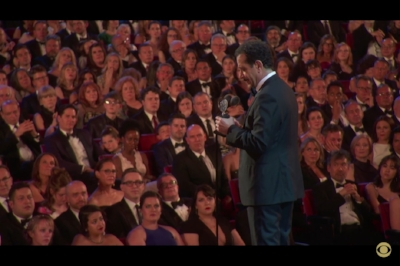Tony Shalhoub accepting his Tony for Best Leading Actor In A Musical.