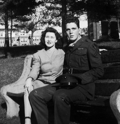 Ignoring the dangers of a world at war: Mary and Jack (home on leave six months after the Normandy D-Day Invasion), October 1944.