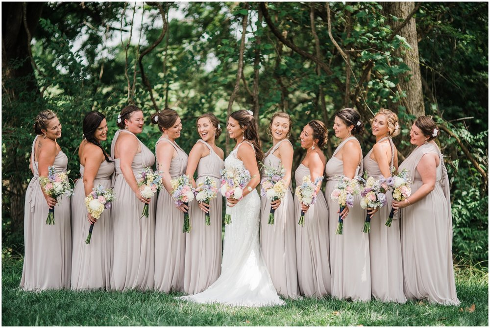 Bridal party/bridesmaids at Rolling Meadows Ranch wedding