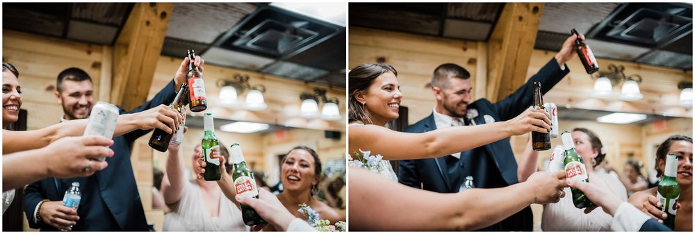 Cheers to the newlyweds! Cincinnati wedding photographer.