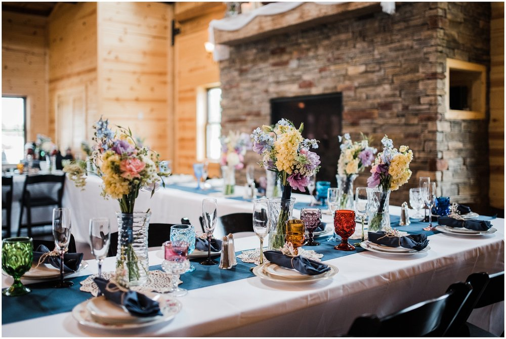 wedding reception at Rolling Meadows Ranch
