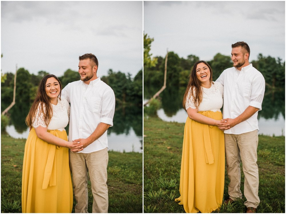 couple holding hands during photo session