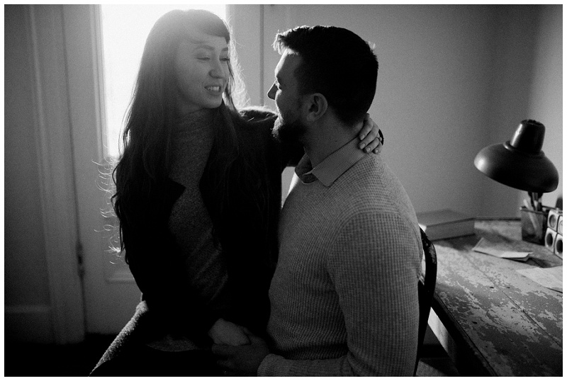 Dayton, Ohio In-Home Engagement Portraits | Chelsea Hall Photography