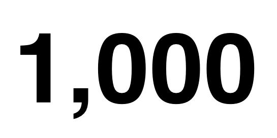 1000 circles