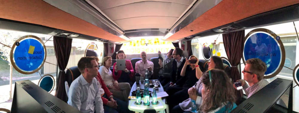 This group of people from 8 German companies has bold ambitions, and the conversations help them be more effective. (On a bus, no less! Click on the image for the full story.)