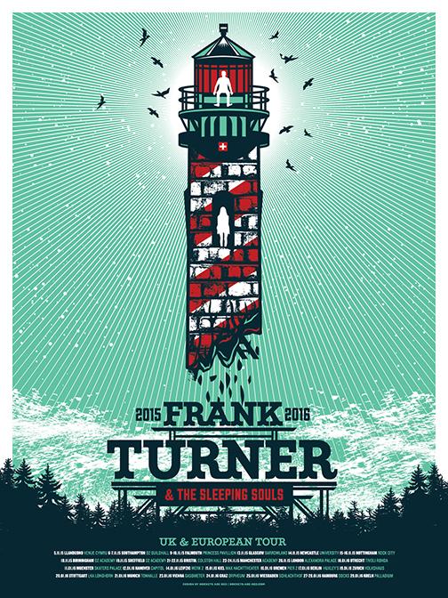Frank Turner - 2015 EU Poster