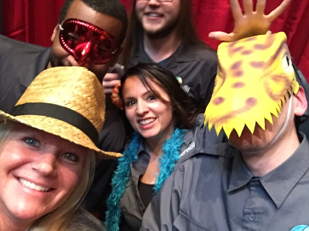 A few of the Brolly on-site teams, hamming it up at an event's photo booth.