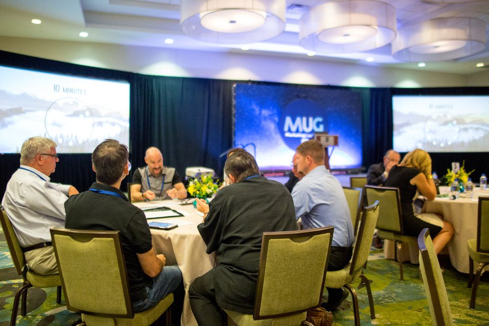 A moderated roundtable at our recent MUG Conference.