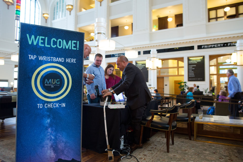 An RFID brand engagement stand for our recent MUG Conference.
