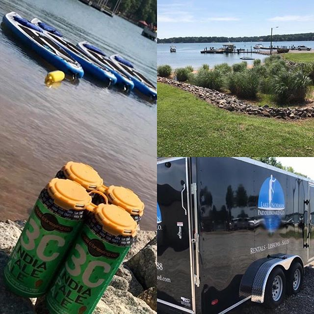 Current situation: flat water, sunny and 75F, Boards in the water, #WickedWeed IPA on ice!  Book your boards now at LKNBoard.com