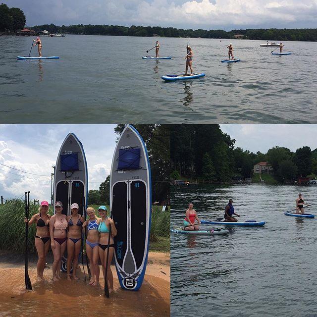 Happy Paddlers today on LKN! #Mooresville #LKN #LakeNorman #Charlotte #704 #Summer